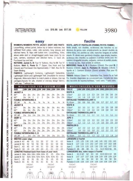 Butterick 3980 J 1