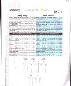 Butterick B5211 J 1