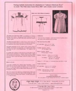Ginger Snaps Designs The Pink Linen Easter Dress 1