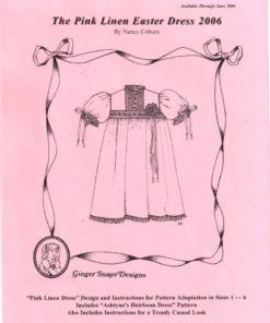 Ginger Snaps Designs The Pink Linen Easter Dress