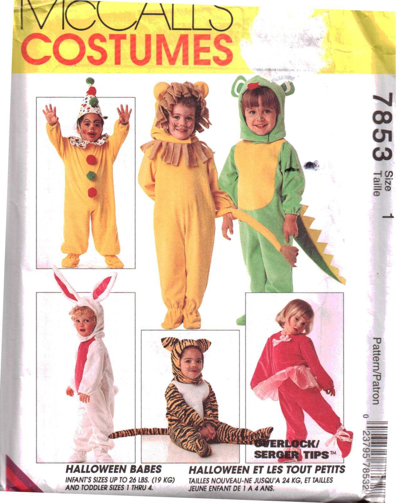 McCalls Halloween Costumes Sewing Patterns Men Women Kids Toddlers McCall/'s