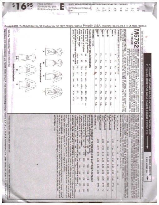 McCalls M5752 J 1
