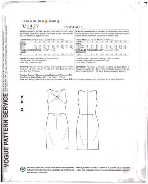 Vogue V1327 J 1