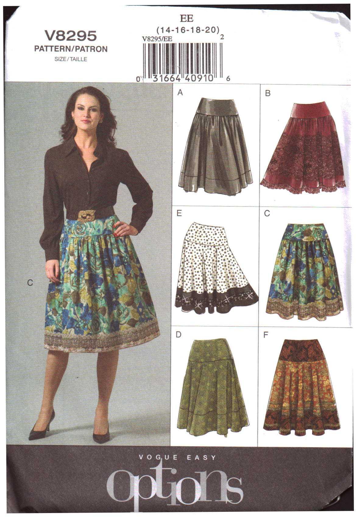 Misses/' Jacket Skirt /& Top OOP Sizes: 14-22 **NEW** Vogue V1465
