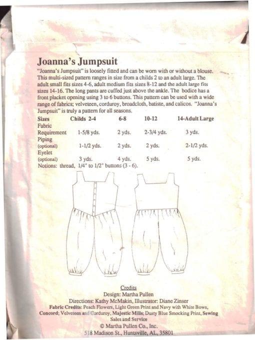 Martha Pullen Johannas Jumpsuit 1