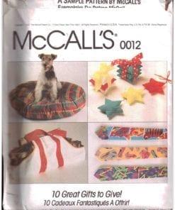 McCalls 0012 J 1