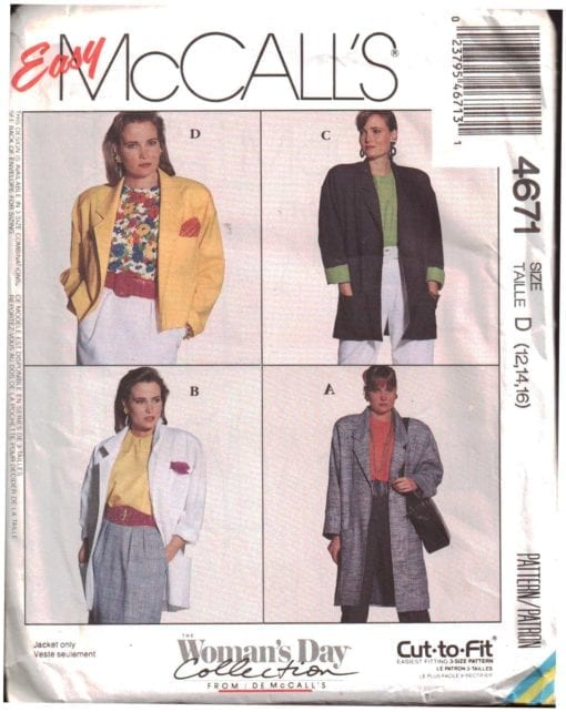 McCalls 4671 J