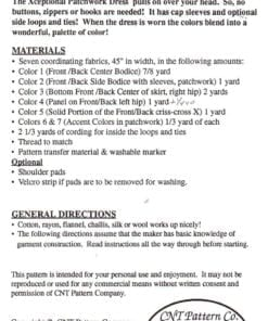 CNT Pattern Co. Xceptional Patchwork Dress 1