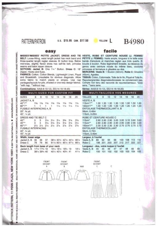 Butterick B4980 O 1