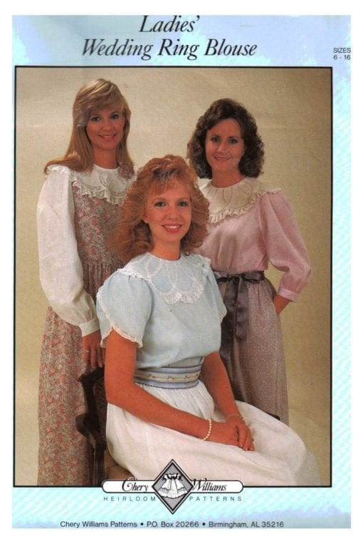 Cheryl Williams Pattern Ladies Wedding Ring Blouse O