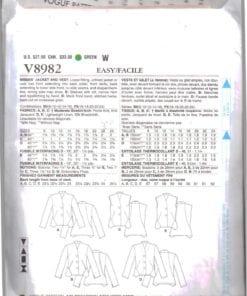 Vogue V8982 O 1