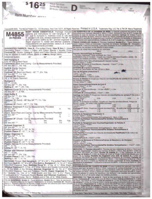 McCalls M4855 M 1
