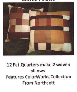 Quiltwoman Woven Pillows