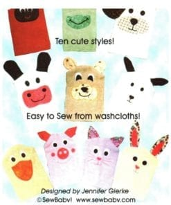 Sew Baby Bath Puppet Pals