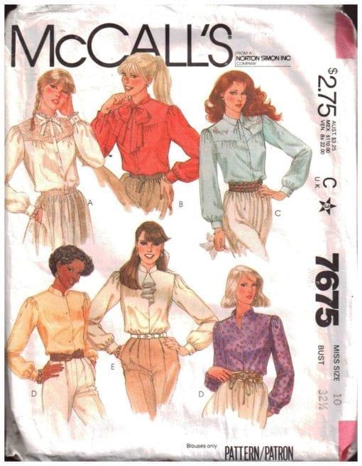 McCalls 7675 M
