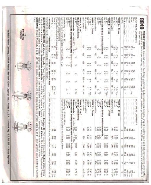 McCalls 8849 M 1