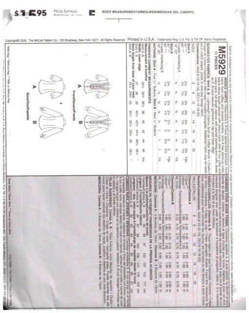 McCalls M5929 M 1