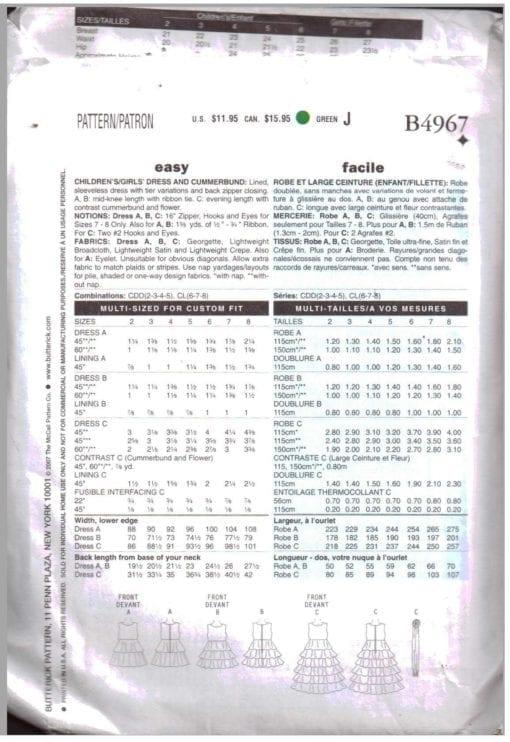 Butterick B4967 M 1
