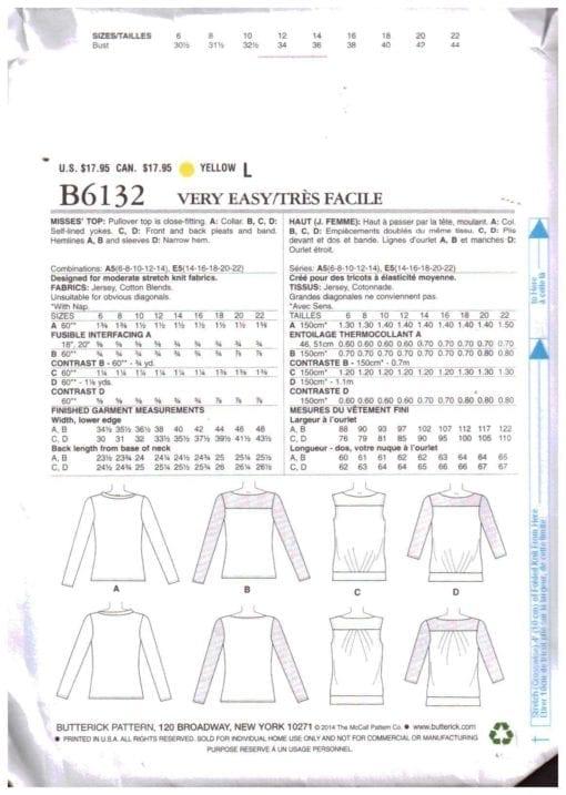 Butterick B6132 M 1