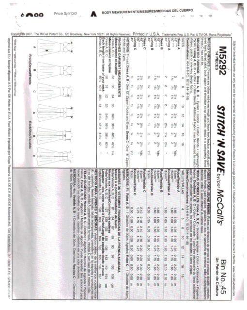 McCalls M5292 M 1