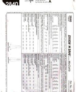 McCalls 2840 J 1
