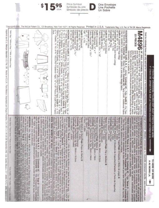 McCalls M4896 J 1
