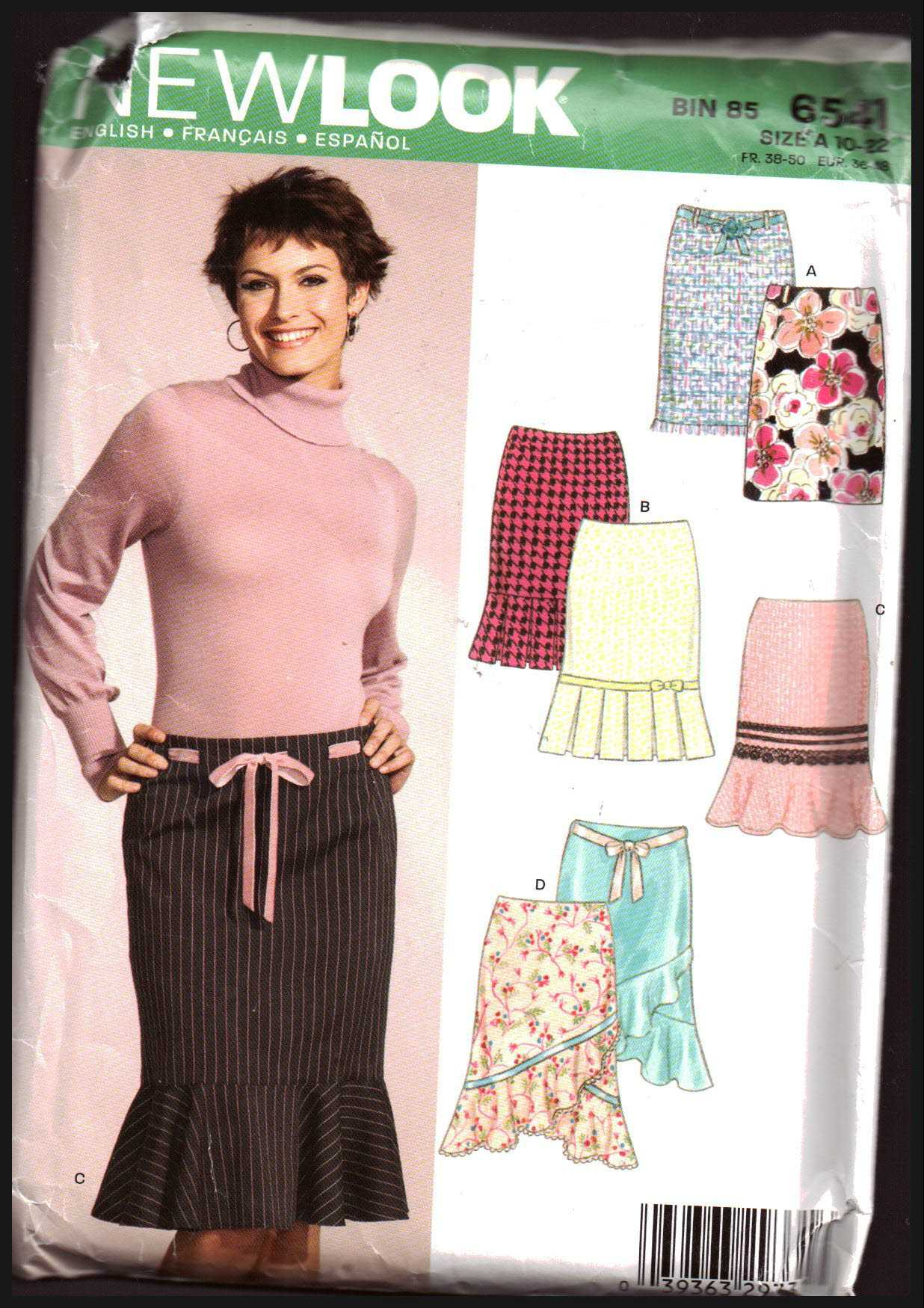 aabc5e228a7 New Look 6541 Skirts Size: A 10-22 Uncut