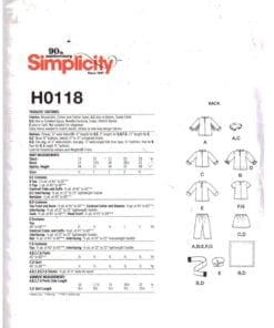 Simplicity H0118 J 1
