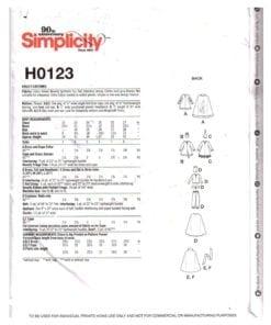 Simplicity H0123 J 1