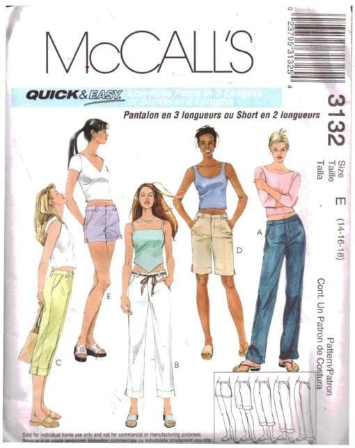 McCalls 3132 A