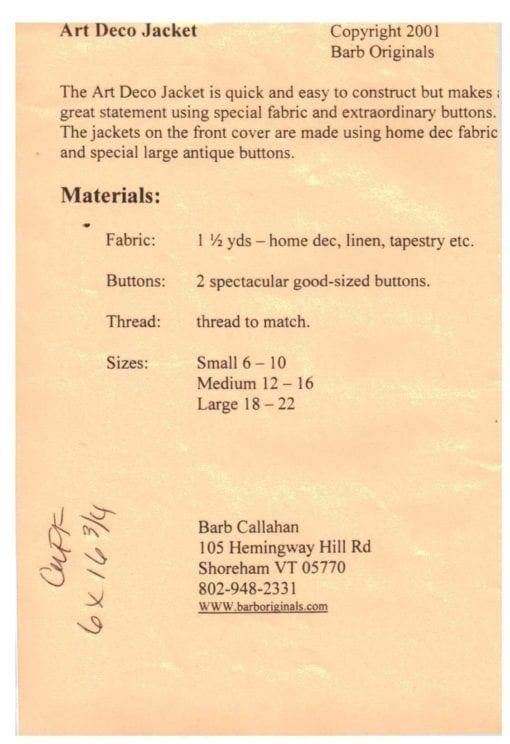 Barb Callahan Art Deco Jacket 1