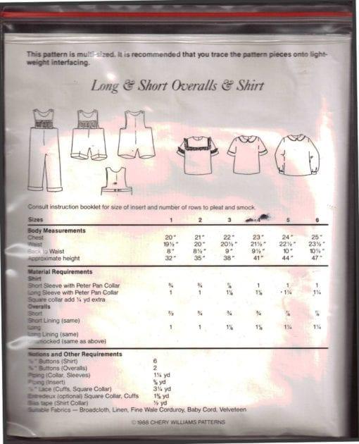 Chery Williams Long Short Overalls Shirt 1