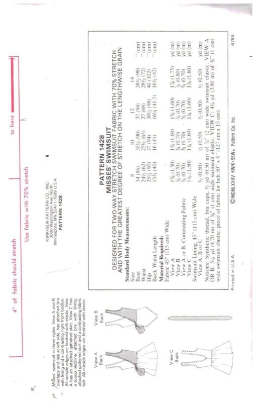 Kwik Sew 1428 S 1