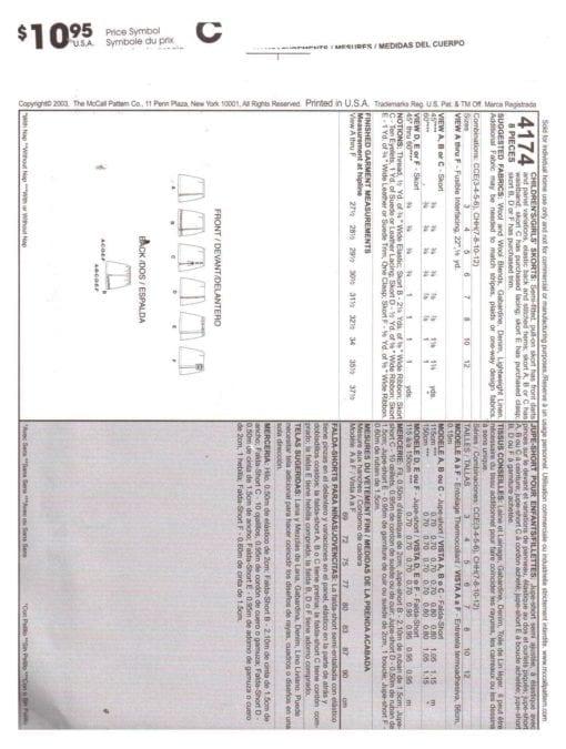 McCalls 4174 O 1