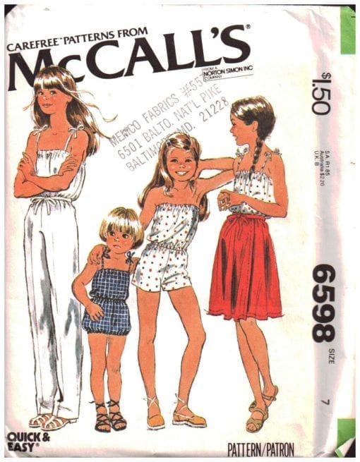 McCalls 6598 O