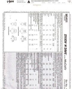McCalls M5451 S 1