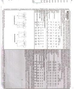 McCalls M5665 S 1