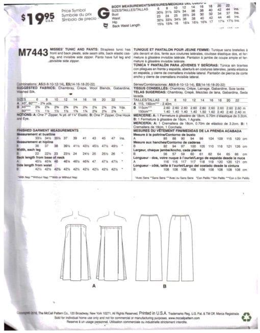 McCalls M7443 O 1