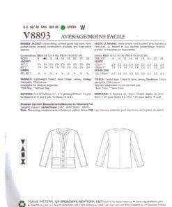 Vogue V8893 O 1