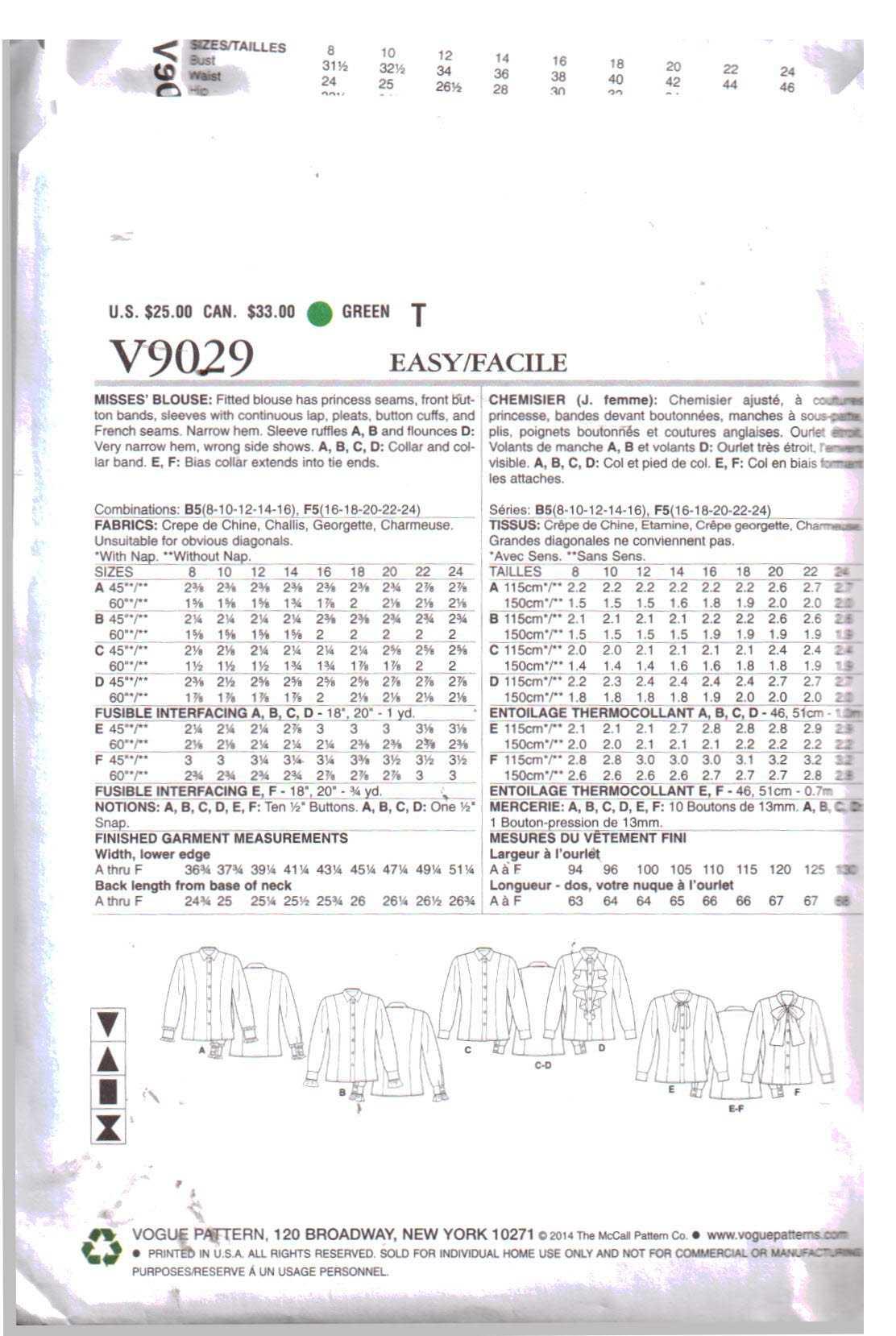 Vogue V9029 A 1