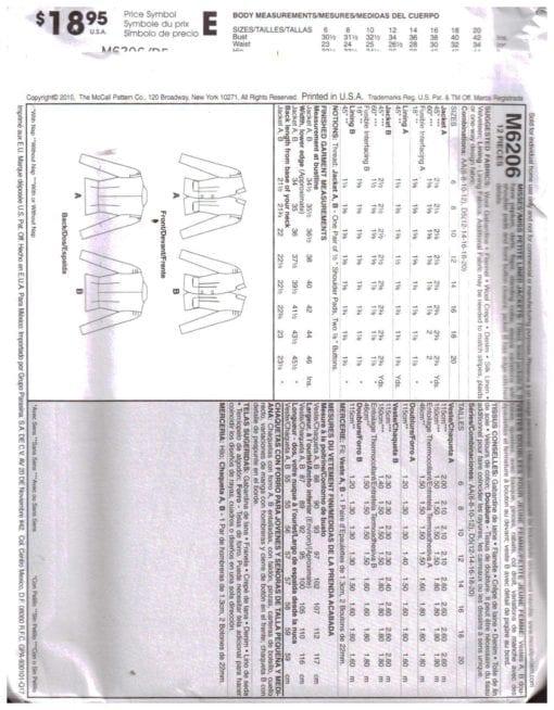 McCalls M6206 O 1