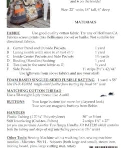 Aunties Two Patterns Carpet Bag 1
