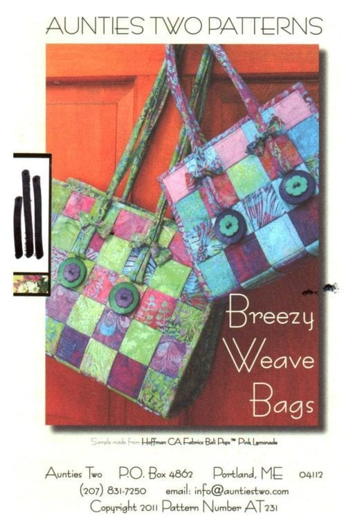 Aunties two Patterns Breezy Weave Bags