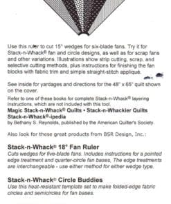 BSR Design Quilt Stack n Whack 15 Fan Ruler 1
