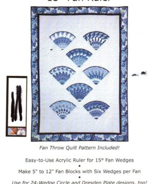 BSR Design Quilt Stack n Whack 15 Fan Ruler