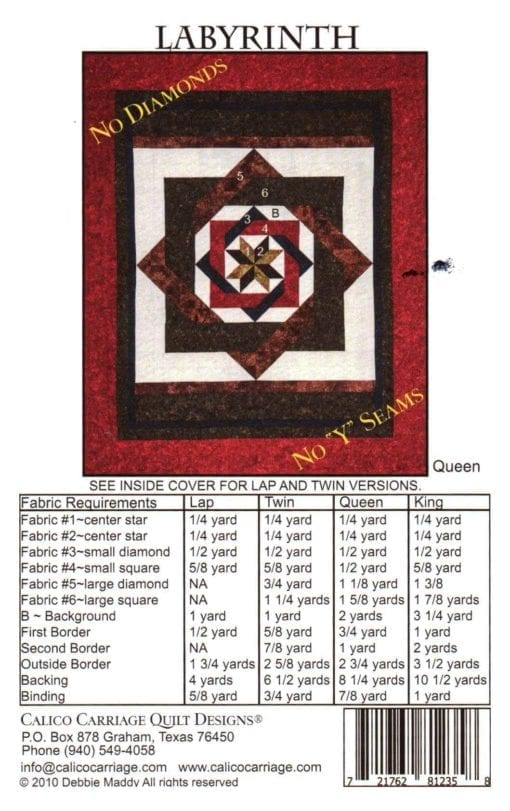 Calico Carriage Quilt Designs CCQD141 1