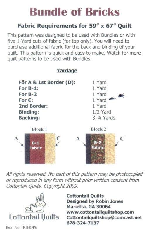 Cottontail Quilts Bundle of Bricks Quilt 1
