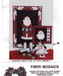 Fiber Mosaics Dreaming of Santa Quilt