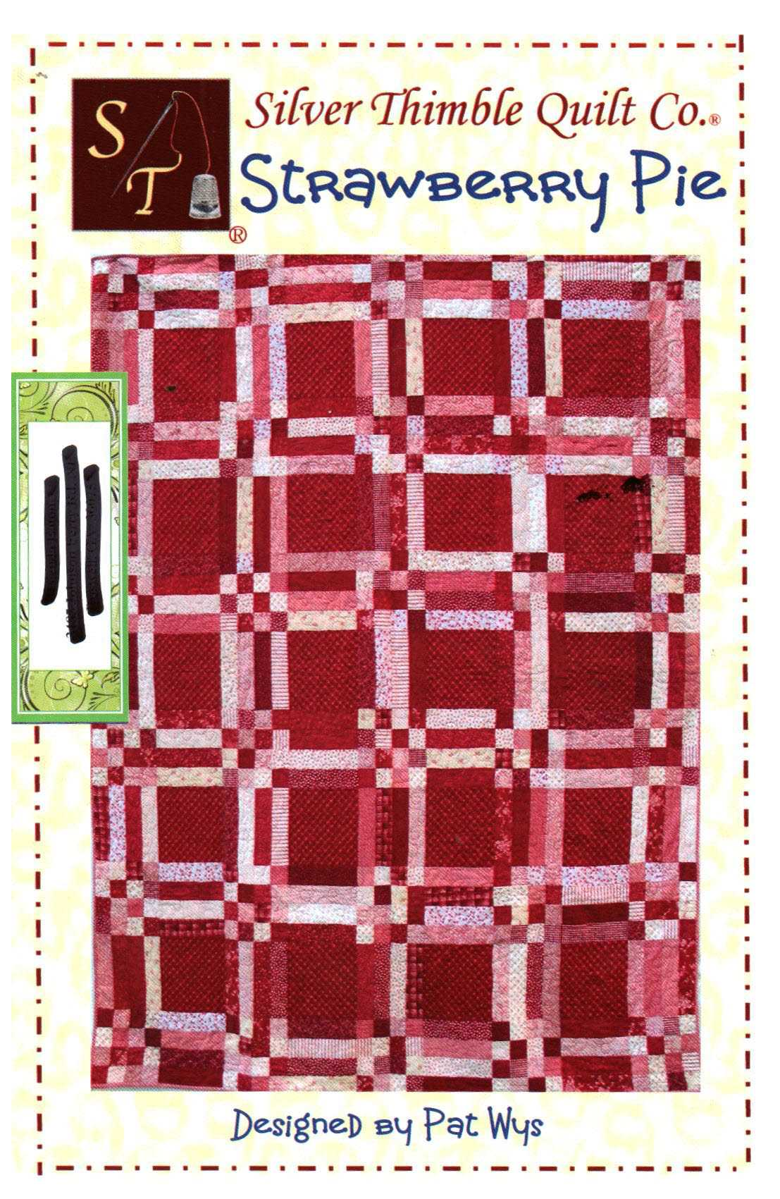 Silver Thimble Quilt Strawberry Pie