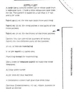 Virginia Robertson Designs Pocket Canister 1